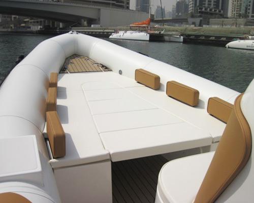 Euroline Boats U Bench Seat with Sunbed